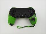 Силиконовый чехол для джойстика PS4 с ремешком(Зеленый Камуфляж)-thumb