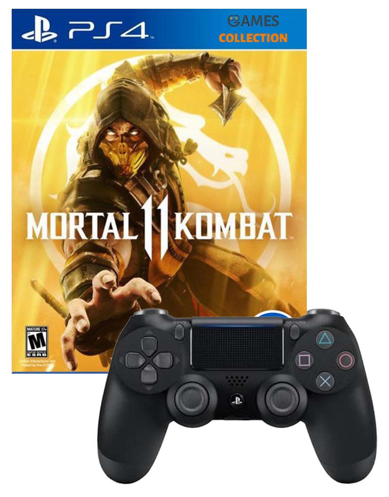 Mortal Kombat 11 + DUAL SHOCK 4 V2 BLACK (PS4)-thumb
