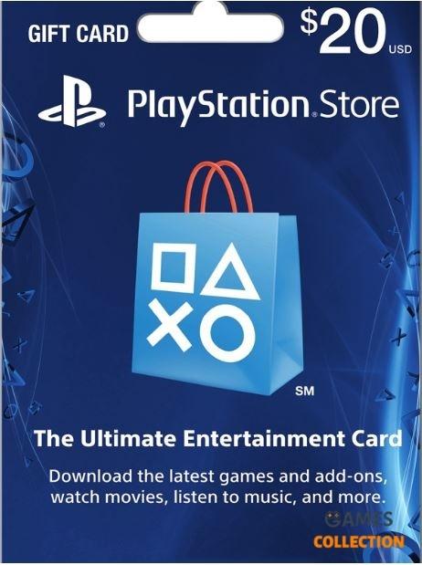 PLAYSTATION NETWORK 20 USD (USA) КАРТА ОПЛАТЫ-thumb