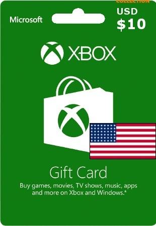 XBOX LIVE 10 USD КАРТА ОПЛАТЫ (USA)-thumb