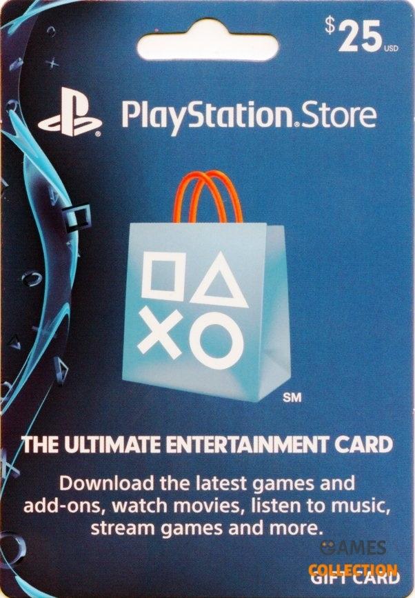 КАРТА ОПЛАТЫ PLAYSTATION NETWORK 25 USD (USA)-thumb
