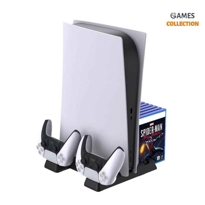 DOBE TP5-0593 Многофункциональная подставка для PlayStation 5 (Черная)-thumb