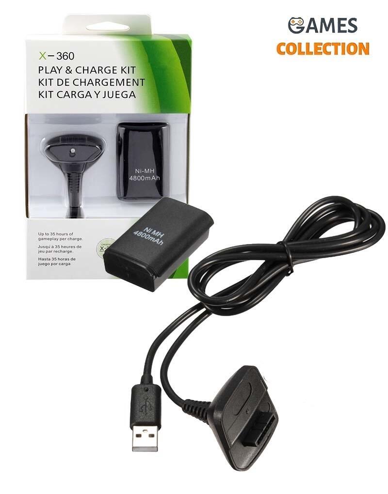 Зарядное устройство Play & Charge Kit + аккумулятор (Xbox 360)-thumb