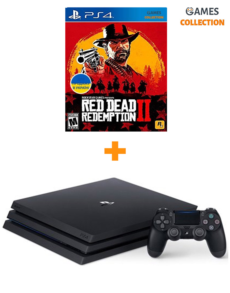 PlayStation 4 Pro 1TB Red Dead Redemption 2 Bundle-thumb
