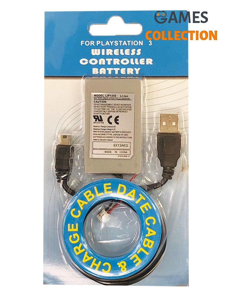 Аккумулятор для джойстика PS3 (1800 mAh) с проводом-thumb