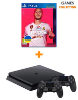 Sony PS4 Slim 1TB + Fifa20 (Рос) + Dualshock 4-thumb