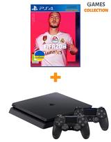 Sony PS4 Slim 1TB + Fifa20 (Рос) + Dualshock 4-thumb