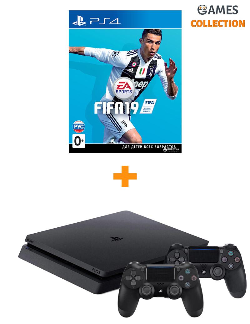 PS4 500GB Slim Fifa 19 + Джойстик PS4-thumb