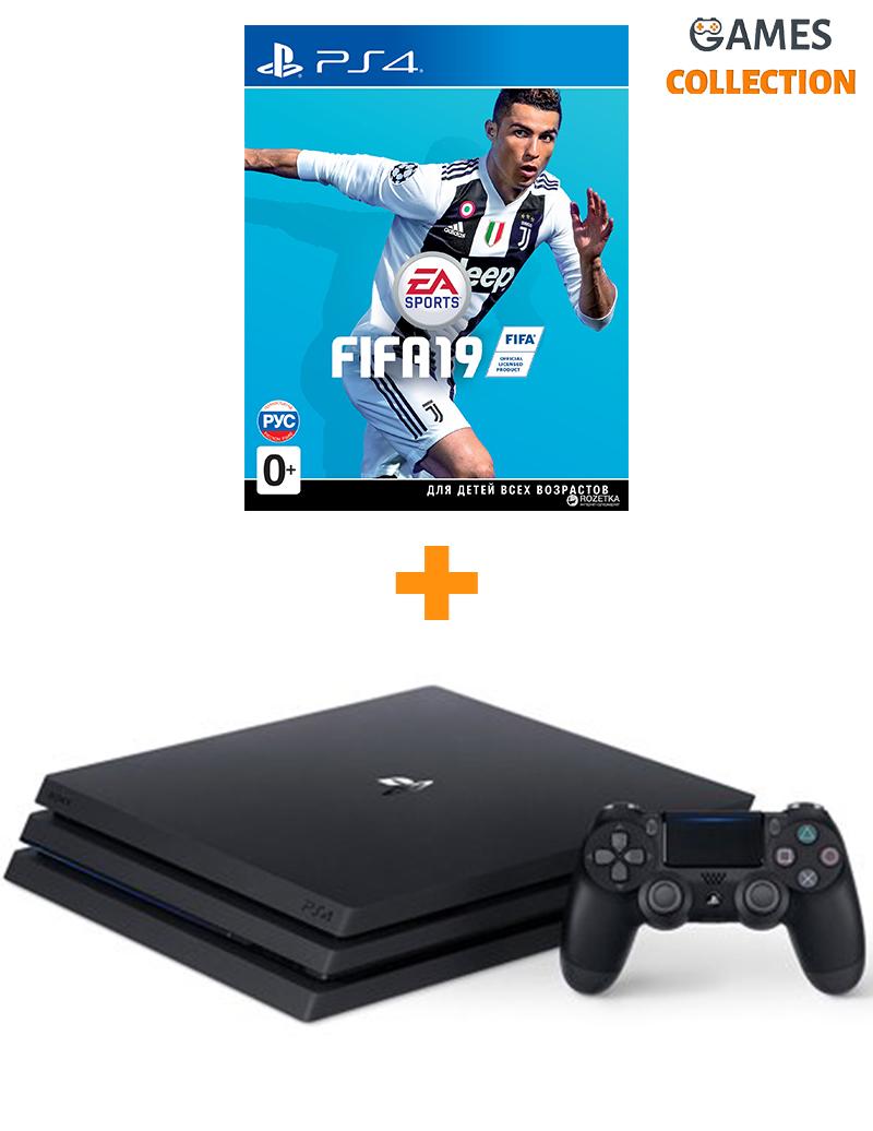 Sony PS4 Pro 1TB + игра Fifa19-thumb