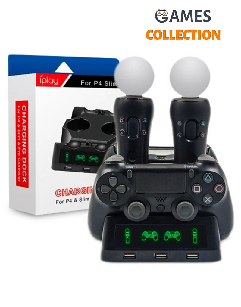 Зарядная станция PS4 PRO/SLIM + Move HBP-118 (PS4)-thumb
