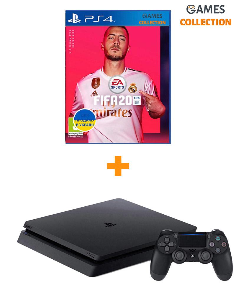 Sony PS4 Slim 1TB + Игра FIFA 20 (PS4)-thumb