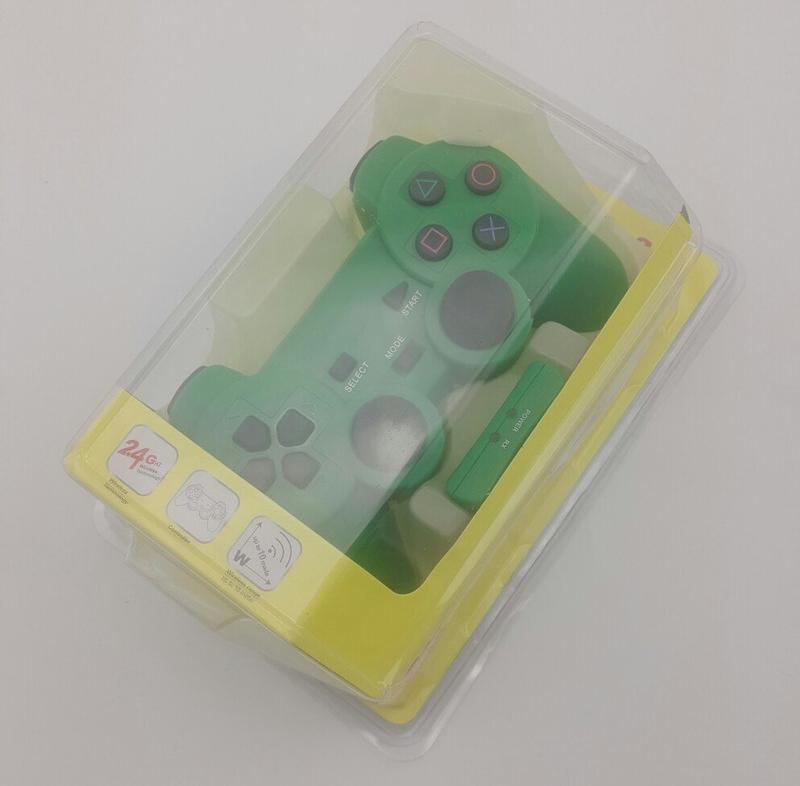 Джойстик PS2 беспроводный (green)-thumb