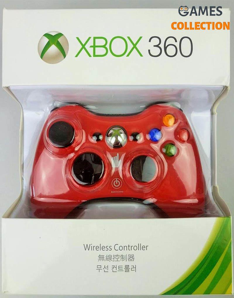Универсальный беспроводной контроллер (Xbox 360) red-thumb
