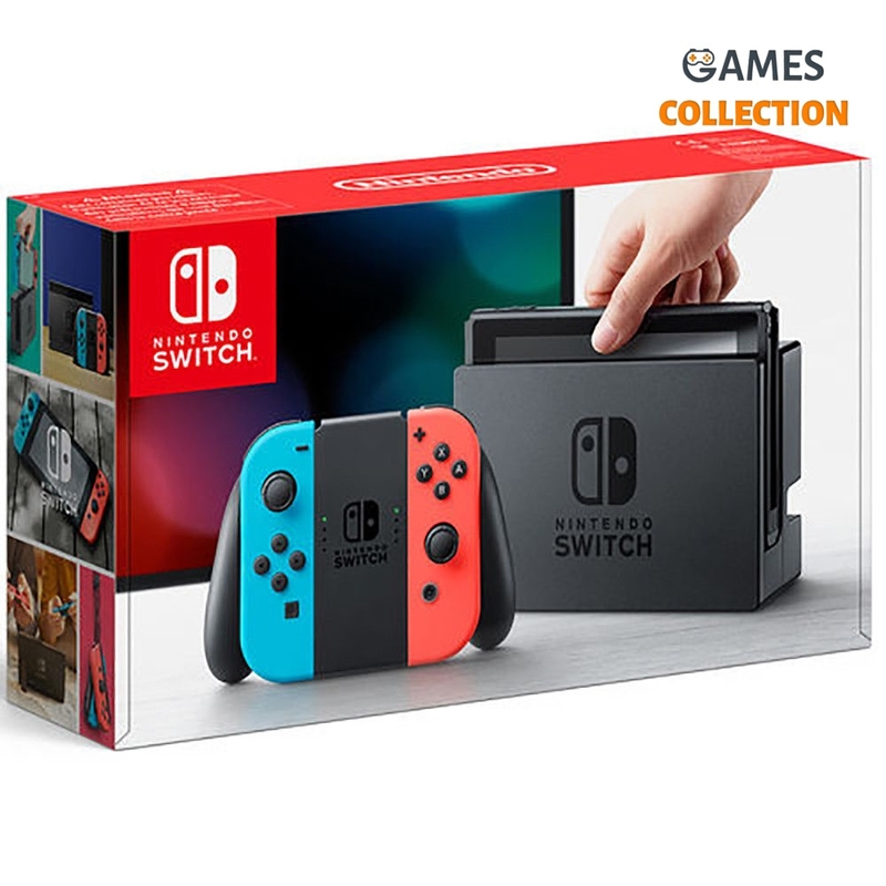 Nintendo Switch Red-blue\Grey+Micro SD 128GB (19 игр)-thumb