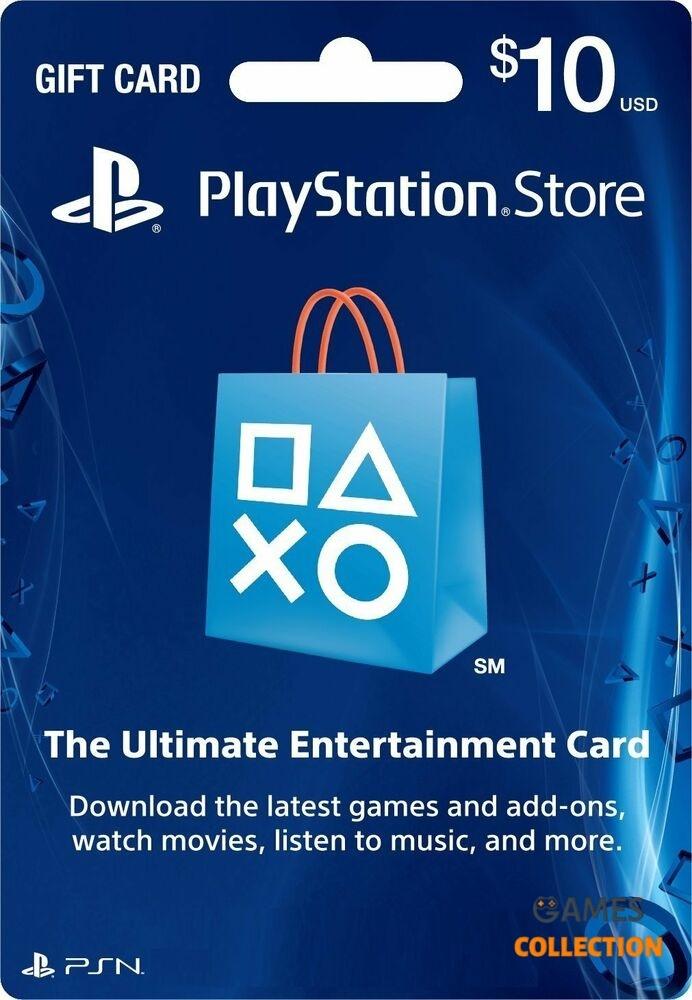 КАРТА ОПЛАТЫ 10 USD PLAYSTATION NETWORK (USA)-thumb