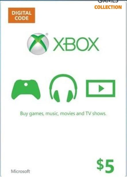 XBOX LIVE 5 USD КАРТА ОПЛАТЫ (USA)-thumb
