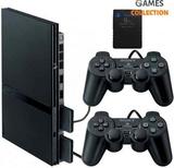 Sony PlayStation 2 Slim Черная + 2 Джойстика + Карта Памяти (PS2)-thumb