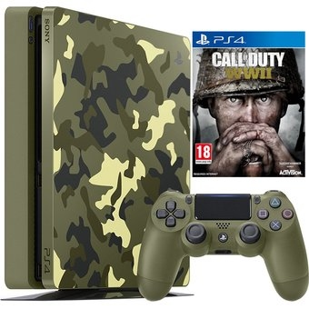Sony PlayStation 4 Slim 1TB (Call Of Duty WW2 Camouflage Bundle)-thumb