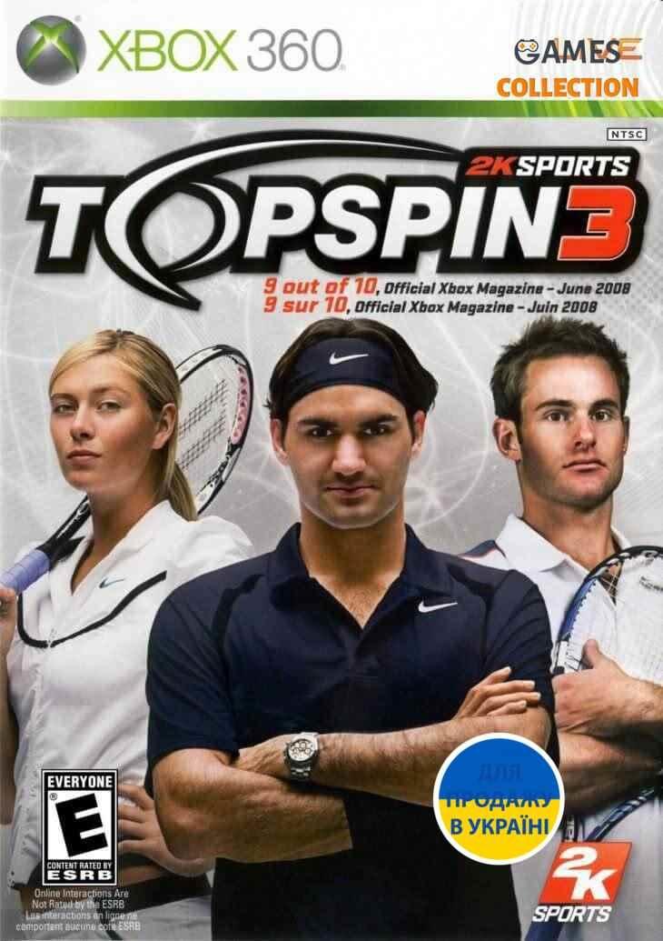 Top Spin 3 (XBOX360) Б/У-thumb