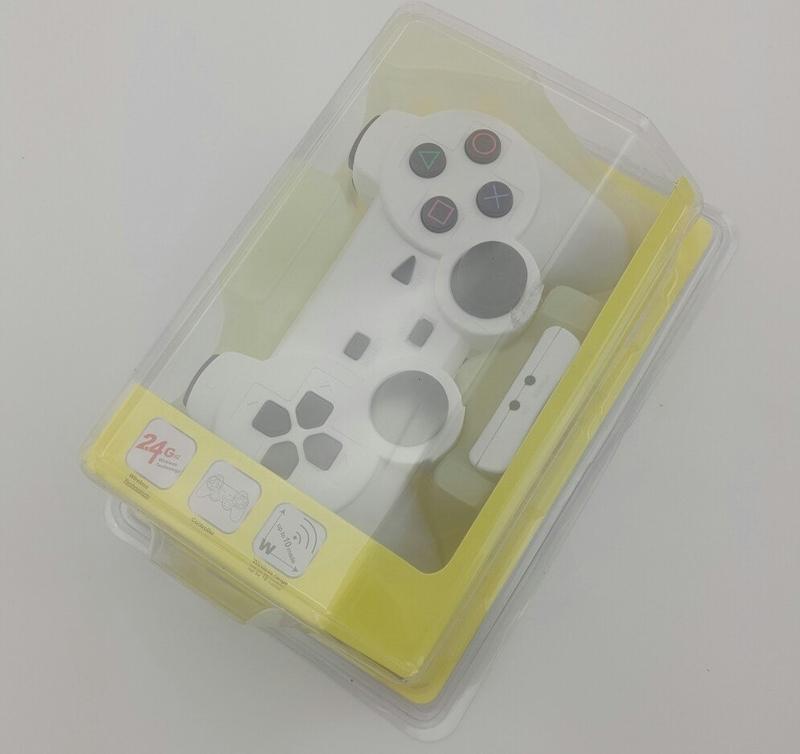 Джойстик PS2 беспроводный (white)-thumb
