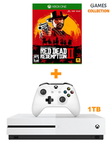 MICROSOFT XBOX ONE SLIM 1TB+RED DEAD REDEMPTION 2 (XBOX ONE) (ВАУЧЕР)-thumb