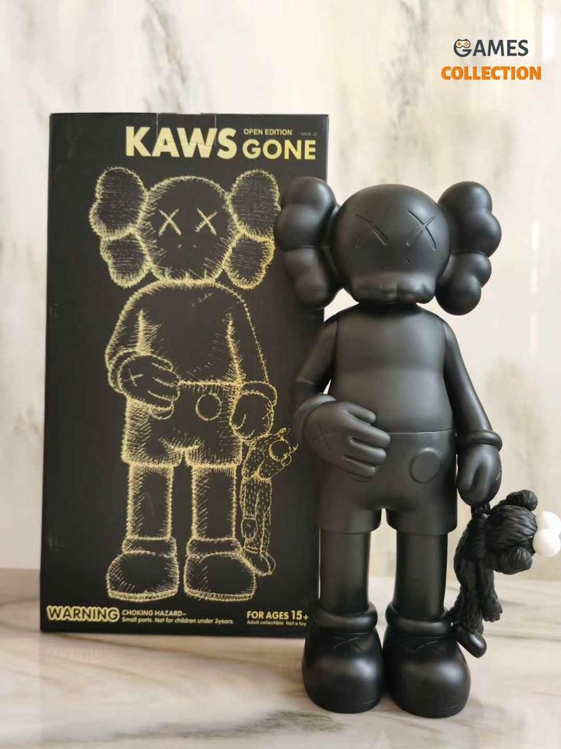 KAWS Share Vinyl Figure Black-thumb