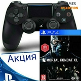DUAL SHOCK 4 V2 + MORTAL KOMBAT XL (PS4)-thumb