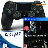 DUAL SHOCK 4 V2 + MORTAL KOMBAT XL (PS4)-thumb