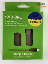FOR Charger Play Kit(4 в 1)2 аккумулятора провод блок (XBOX ONE)-thumb