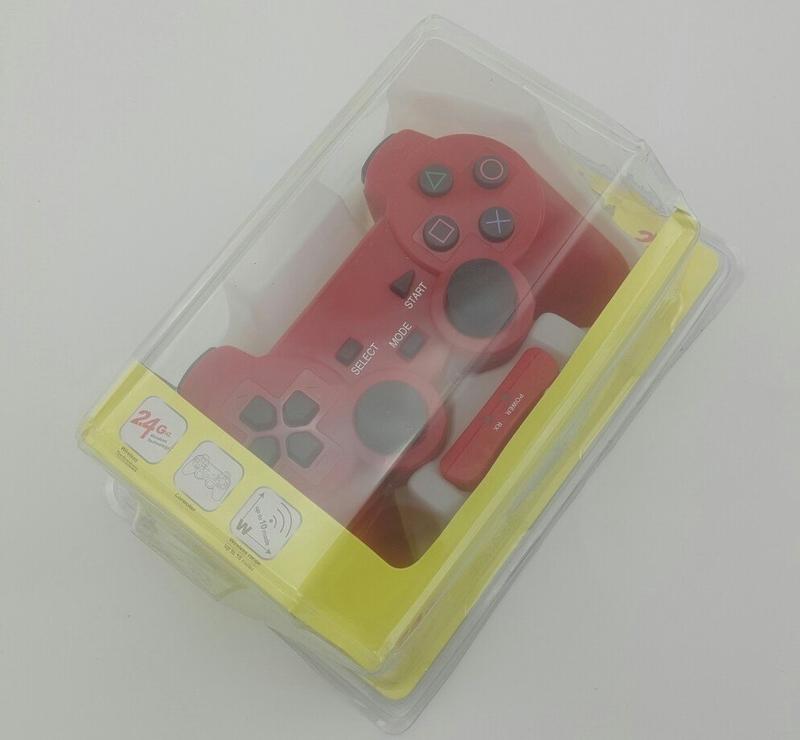 Джойстик PS2 беспроводный (red)-thumb