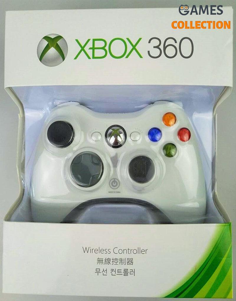 Универсальный беспроводной контроллер (Xbox 360) White-thumb