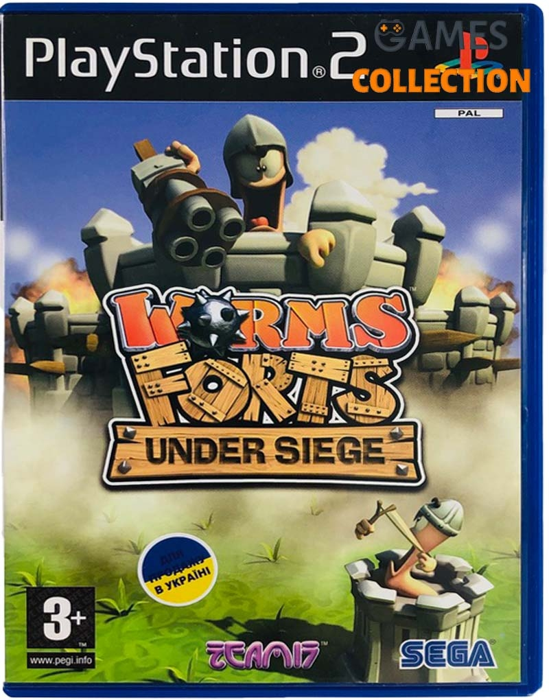 Worms Forts Under Siege (PS2) Б/У-thumb