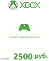 Xbox Live — карта оплаты 2500 рублей Россия-thumb