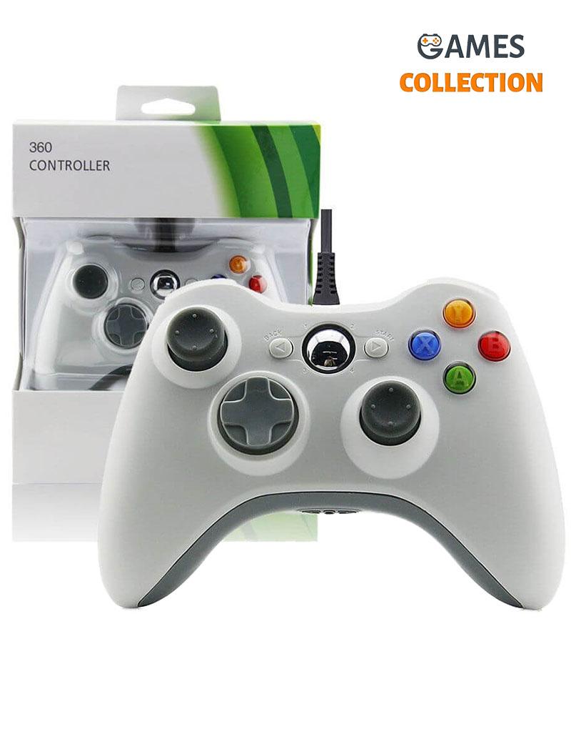 Джойстик (проводной) Xbox 360 (Белый)-thumb