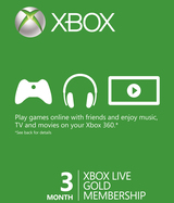 Xbox One Live GOLD 3 месяца Любая страна + РОССИЯ-thumb