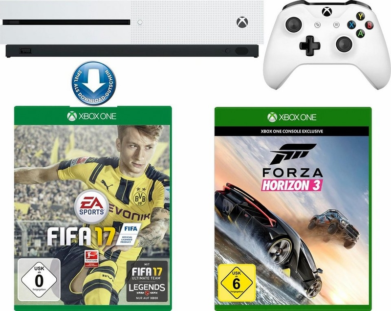 Microsoft Xbox ONE S 500GB+Fifa17+Forza Horizon 3+ 1m EA Access-thumb