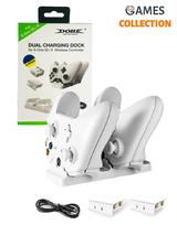 Зарядная Док-станция с 2 Перезаряжаемыми Батареями XBOX ONE / S / X (Белая)-thumb