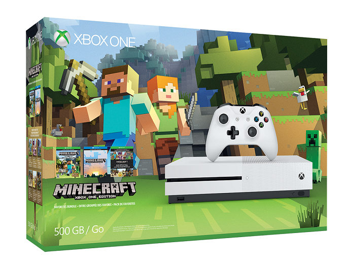 Microsoft Xbox One Slim 500GB with Minecraft – White (EU) (Xbox One)-thumb