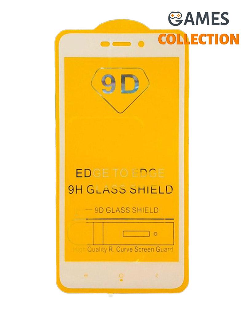 Защитное стекло 9D для Xiaomi Redmi 4A (белый)-thumb